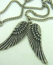 Wings Pendant Necklace Chain Large Gothic Look Angel