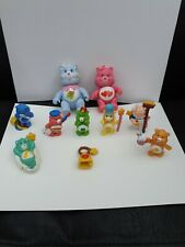 VINTAGE CARE BEAR POSEABLE LOT OF 9 plus bag.