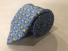 Vineyard Vines Men's Blue Silk Animal Print Neck Tie $89