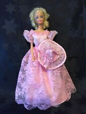Barbie 1980s / 90s Doll In 1987 Whitney Romantic Wedding Bridesmaid Dress & Hat