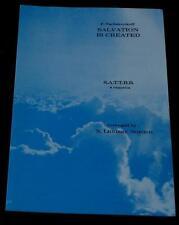 Salvation Is Created, P. Tschesnokoff, N. Lindsay Norden 1970, SHEET MUSIC