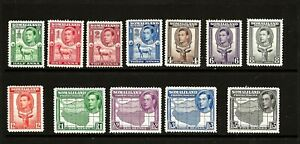 SOMALILAND  (Z201) 1938 SIDE FACE SG93-104 FULL SET OF 12 VERY   FINE MM / MH