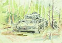 """WW 2 +Russland  Kaluga 42/43  """"unsere Panzer im Vormarsch """" v. Kriegs-Berichter"""