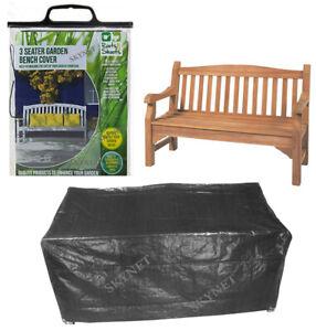 Heavy Duty 2 - 3 Seater Garden Bench Waterproof Cover Rattan Furniture DARK GREY
