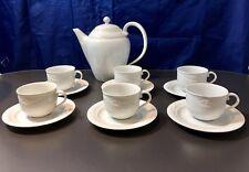Royal Copenhagen Magnolia Classic Service 6 pcs Coffee cup & saucer + Coffee pot