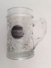 RARE Royal Caribbean Cruise Line Sovereign of the Seas Glass Mug Metal Medallion