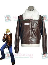 The King Of Fighters Terry Bogard Brown Leather Jacket cosplay costume