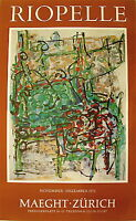 Riopelle J P Affiche quadri 1972 Abstraction art abstrait Quebec Canada Zurich