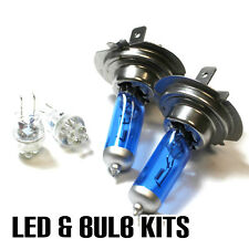 MERCEDES CLK c209 2.1 h7 501 100w SUPER WHITE XENON Dip/lato LED Lampadine Set