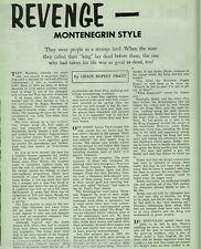 Montenegrin Revenge in the Mines of Montana +Coria,Felopwich,Hayes,King,Shussler