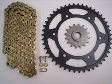 BMW F650GS F650 GS NEW 16/47 SPROCKET & HD GOLD CHAIN SET KIT 99 - 07