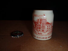 JOLIET CITIZENS BREWING CO.MINI STEIN 2 3/8 TALL 1 3/4 WIDE EARLY 1900s RARE