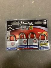 Master Lock 3008D Keyed-Alike Padlock, 4 Pack