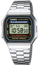 Casio Watch Retro Digital Unisex A168WA-1W Alarm Illuminator  New  A168  A-168WA