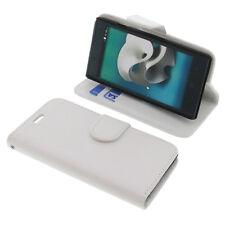 Funda Para ZTE Kis 2 Max Book Style Protección Funda Teléfono Móvil Libro Blanco