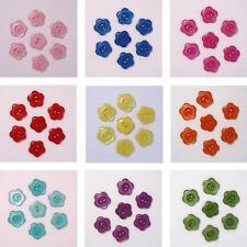 Boutons Fleur 12mm - Lot de 10 - Couleur au choix - Scrapbooking Couture Tricot