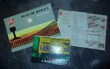 Lot JOUEF PLANS RESEAUX HO + notice Jouef + livret wagons édité par SNCF 1973