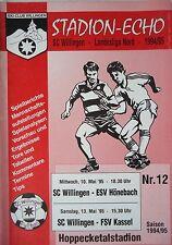 Programm 1994/95 SC Willingen - ESV Hönebach / FSV Kassel