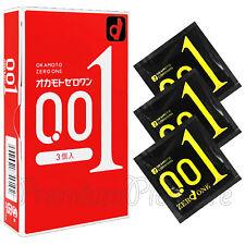 Okamoto 001 Zero One condoms Ultra thin Thinnest Polyurethane 0.01 Japan 1-3 PCS
