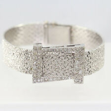 Vintage 14k White Gold Diamond Ladies Covered Angelus Wristwatch
