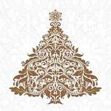 Christmas 16 Paper Festive Lunch Napkins INSPIRATION - CHRISTMAS TREE GOLD
