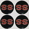 4pcs.RED SS Style Wheel Rim Center DECAL Cap STICKER 63.5mm / 2.5""
