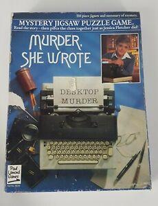 Murder She Wrote Mystery Jigsaw Puzzle Game 550 Piece Jigsaw