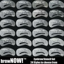 browNOW! Eyebrow STENCIL KIT Shaping Grooming Brow Make Up 24 Reusable Templates