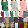 Plus Size Womens Summer Casual T-Shirt Tops Loose Baggy Tee Shirts Tunic Blouse