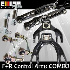 F&R Control Camber Arms COMBO for 94-01 Integra 92-95 Civic 93-97 DelSol BLACK