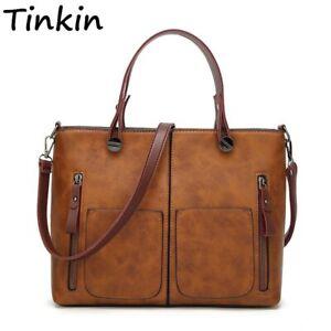 Tinkin Vintage femmes sac à bandoulière femme casual fourre-tout pour le