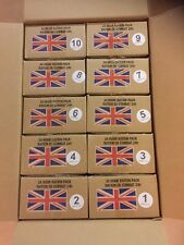 BRITISH ARMY 24HR RATION PACKS BOX x 10