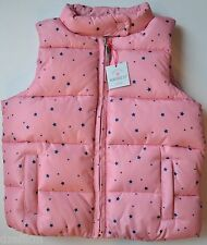 NWT GAP Girls Star Print Warmest Puffer Vest Size 4T