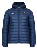 Ellesse Lombardy Padded Puffer Jacket Mens Warm Winter Hooded Winter Coat Blue