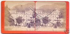19585/ Stereofoto 9x17,5cm, F. Charnaux, Interlaken Hotel Victoria, ca. 1870