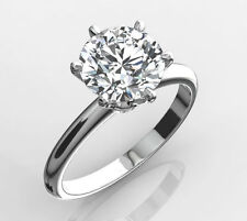 14k White Gold 6 Pins Wedding New H Diamond Engagement Ring 1.00 Ct D Si1 Round