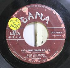 Polka 45 Gene Wisniewski - Lieghtensteiner Polka / Swedish Polka On Dana