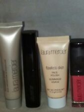 New Laura Mercier PRIMER+MASCARA+FACE POLISH+LIP GLAC, ALL TRAVEL SIZE, 4 PCS SE