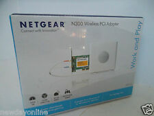 NETGEAR N300 Wireless-N PCI Adapter 802.11b/g/n 2.4GHz 300Mbps WPA2 WN311B NEW