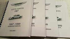 ASTON MARTIN DB7 97 - 99 WORKSHOP PARTS & OBD II MANUALS COMPLETE SET PRINTED