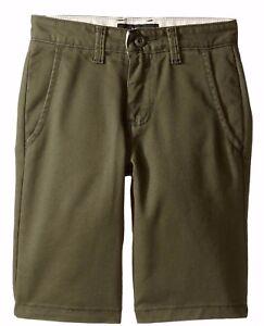 Vans STURDY Boys Youth Stretch Twill Shorts Size 26 Grape Leaf NEW