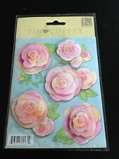 K&Company TIM COFFEY GRAND ADHESIONS 3D STICKERS THE ROSES NEW