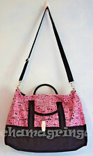 Victoria's Secret 2014 Getaway Weekender Travel Duffel Tote Bag Pink/blk