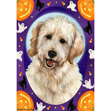 Goldendoodle White Halloween Howls Flag
