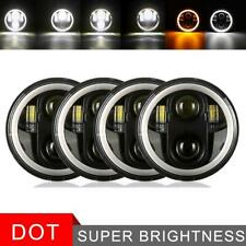 4pcs 5.75 5-3/4 LED Round Headlight Halo Projector for Peterbilt 349 359 Toyota