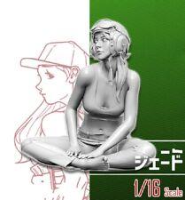 1/16 Resin Figure Model Kit Modern Sexy Girl US Pilot Unpainted Unassambled