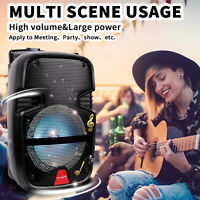 Portable Mini Speakers Wireless Bluetooth Party DJ Speaker Flashing Lights & Mic