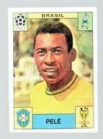Panini World Cup Story Pele Brazil Mexico 1970 Football Investment Sticker -PSA?