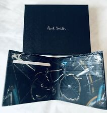 Paul Smith Men Wallet Bifold With Card Bike Black Made In Italy