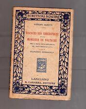 discours sur shakespeare at sur monsieur de voltaire - giuseppe baretti - 1911